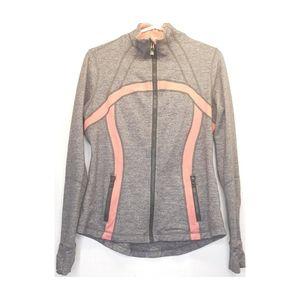 Lululemon pink and gray zip up hoodie
